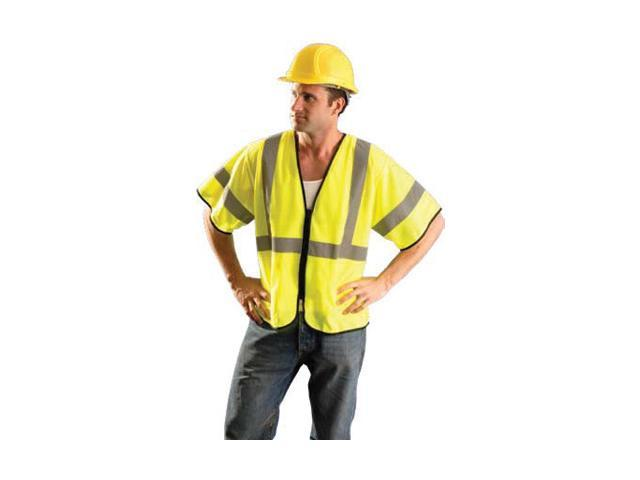 4X - 5X Hi-Viz Yellow Polyester And Mesh Class 3 Value Vest
