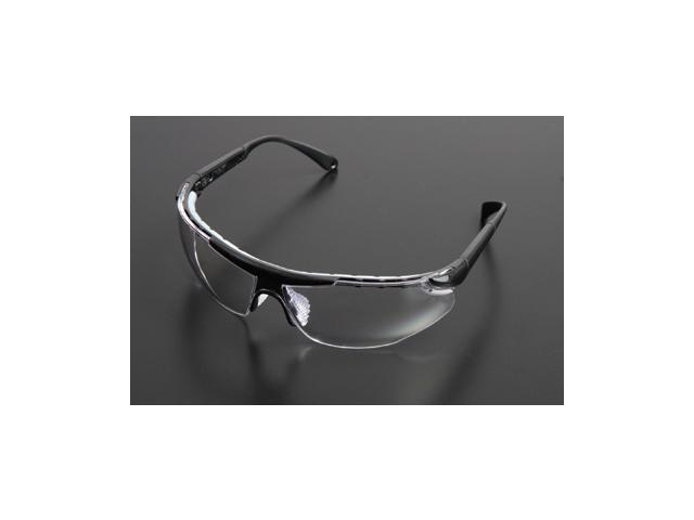 Elite Plus Series Safety Glasses - Black Frame And Clear Lens - 6405...