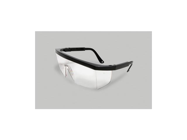 Retro Series Safety Glasses - Black Frame And Clear Universal Lens -...
