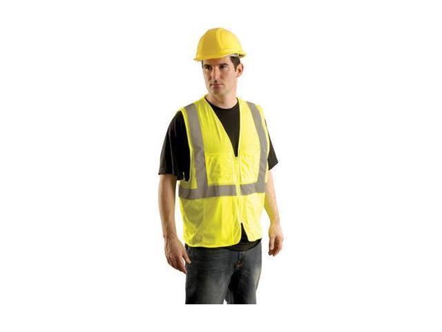 Occunomix Hi Vis Class Ii Mesh Surveyor'S Safety Vest - 2X/3X Hi Viz Yellow S...