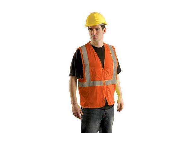 Occunomix Hi Vis Class Ii Mesh Surveyor'S Safety Vest - 2X/3X Hi Viz Orange S...