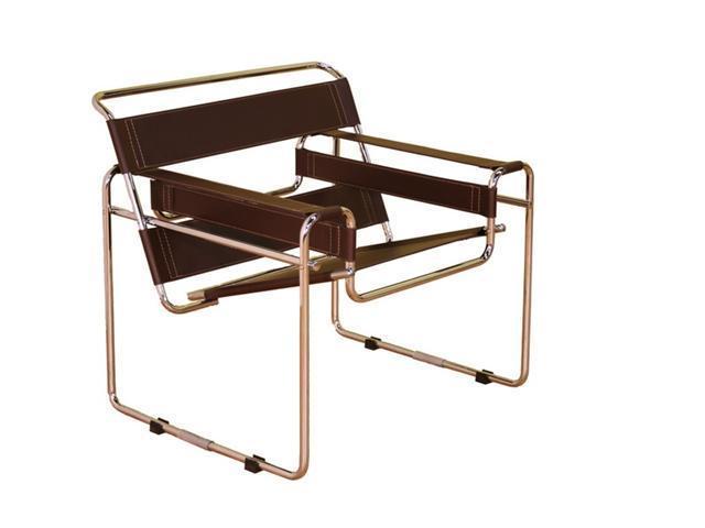 Wholesale Interiors Dark Brown Leather Club Chair - Neweggcom