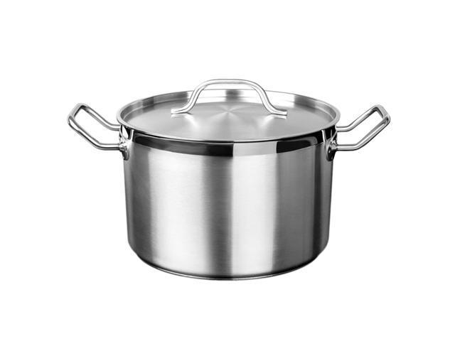 Excellante 20 QT 18/8 Stainless Steel Stock Pot with Lid - Each