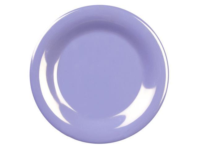 Excellante Blue Melamine Collection 12-Inch Wide Rim Round Plate, Blue - Dozen