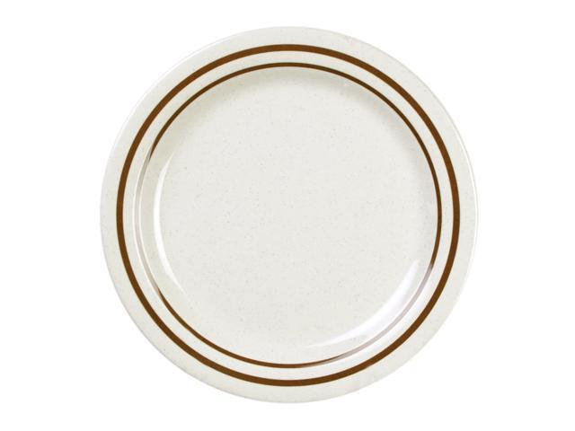 Excellante Winston Melamine Collection 6-1/4-Inch Round Bread Plate - Dozen