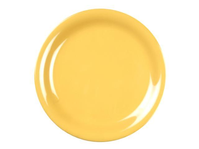 Excellante Yellow Melamine Collection 7-1/4-Inch Narrow Rim Round Plate, Yellow - Dozen