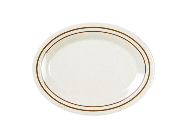 Excellante Winston Melamine Collection 12 by 9-Inch Oval Platter - Dozen