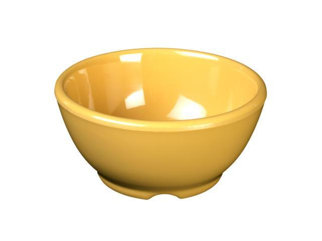 Excellante Yellow Melamine Collection 4.675-Inch Soup Bowl, 10-Ounce, Yellow - Dozen