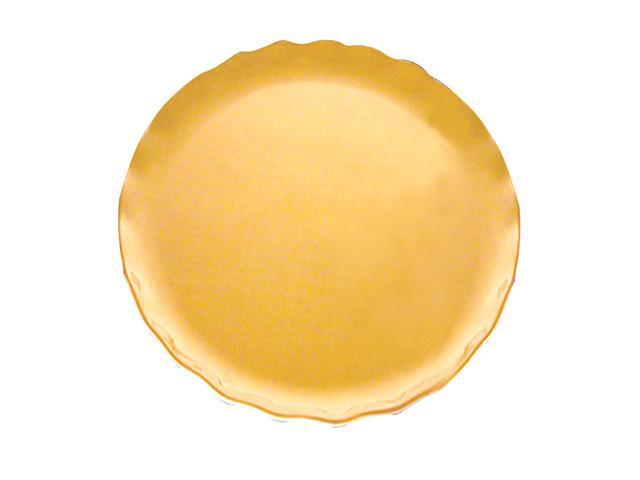 Excellante Mica Pearl Collection 8-1/2-Inch Round Salad Plate, Gold - Each