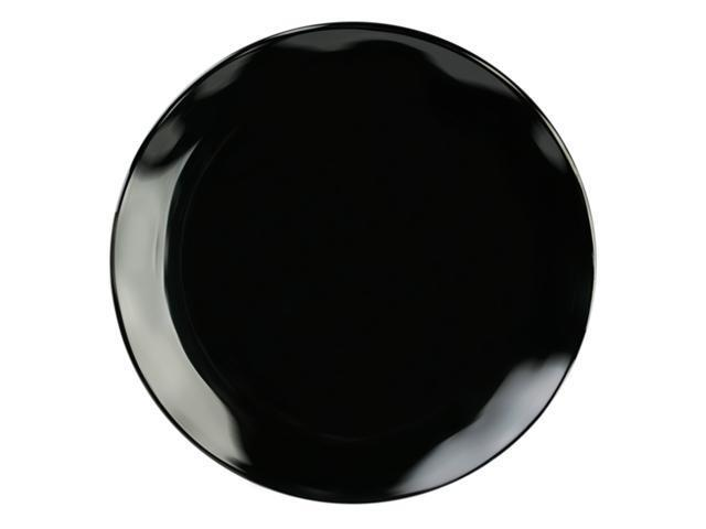 Excellante Mica Black Collection 20-Inch Round Plate, Two-Toned - Each