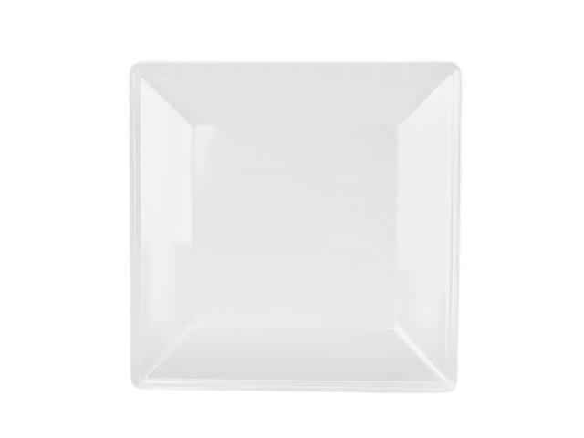 Excellanté Royal White Collection 13-3/4 by 13-3/4-Inch Square Plate, 2-1/4-Inch Deep, Royal White - Each