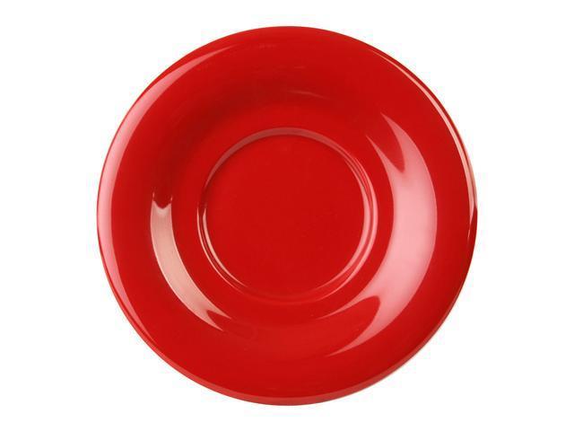 Excellante Crimson Melamine Collection 5-1/2-Inch Saucer, Pure Red - Dozen
