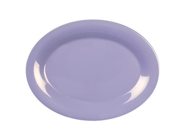 Excellante Blue Melamine Collection 9-1/2 by 7-1/4-Inch Oval Platter, Blue - Dozen