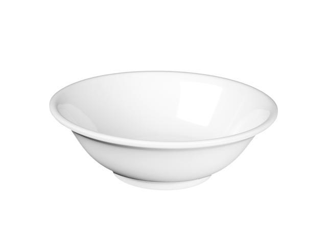Excellante Milan Melamine White Collection 8-Inch 36-Ounce Rimless Bowl, White - Dozen