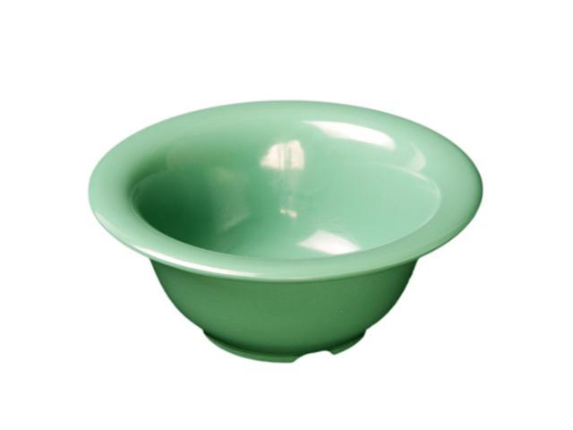Excellante Green Melamine Collection 7-1/4-Inch Soup Bowl, 12-Ounce, Green - Dozen