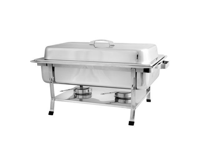 Excellanté Stainless Steel Full Size 8 quart Welded Chafer Set with Plastic Footed - Set