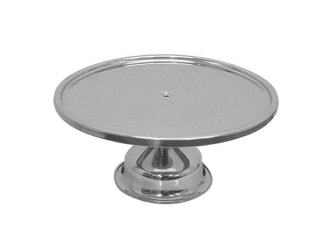 Excellanté Pristine Polished Stainless Steel Cake Stand  - Each