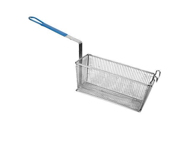 Excellante Rectangular Fry Basket with Green Handle - Each