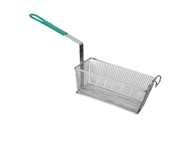 Excellante Rectangular Fry Basket with Gray Handle - Each