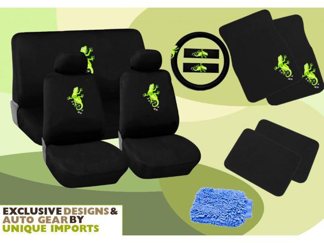gecko seat covers floor mats set 15pc w bonus wash mitt. Black Bedroom Furniture Sets. Home Design Ideas