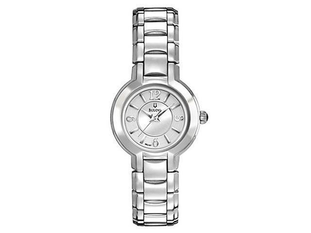 Bulova Fairlawn Silver Dial Stainless Steel Ladies Watch 96L147