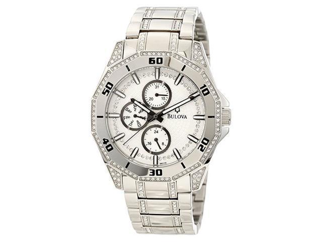 Bulova Mens Crystal Quartz 96C110 Watch