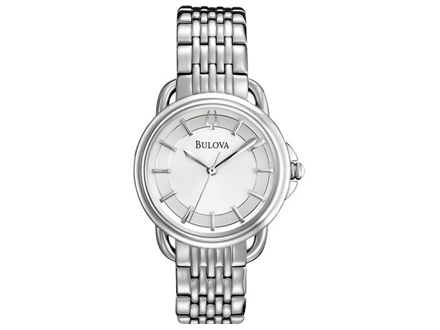 Bulova Dress Silver Dial Stainless Steel Ladies Watch 96L171