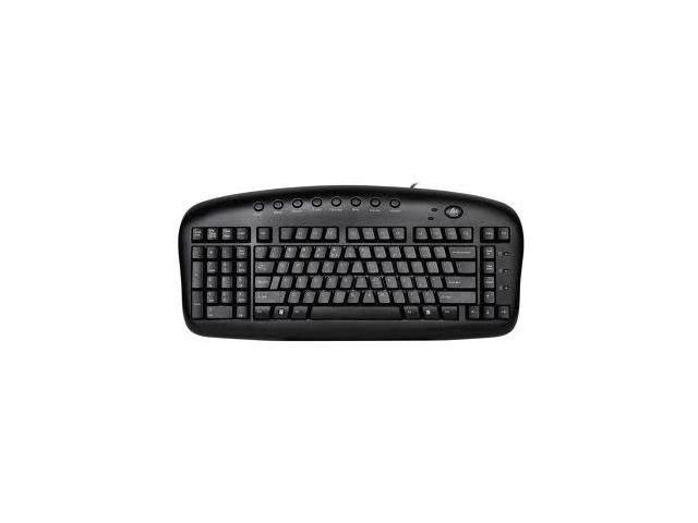 "A4-Tech Left-Handed Pro KBS-29 Natural ""A""-Shaped Key Layout Wired Multimedia Keyboard w/ Numeric Keypad"