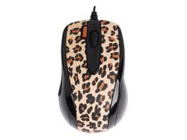 G-Cube GOL-73BF 800 dpi Double-Click Button Mini Optical USB Wired Mouse (Lux Leopard) with Travel Pouch for both PC (Win XP/2000/Vista) and Mac OS 10.x