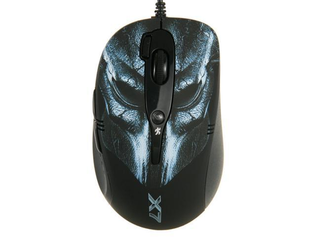 A4Tech X7 XL-760BL Laser USB Gaming Mouse - Adjustable 6-Speed Control, Oscar Mouse Editor Utility & 64K On-Board Memory, 1ms with Full-Speed USB