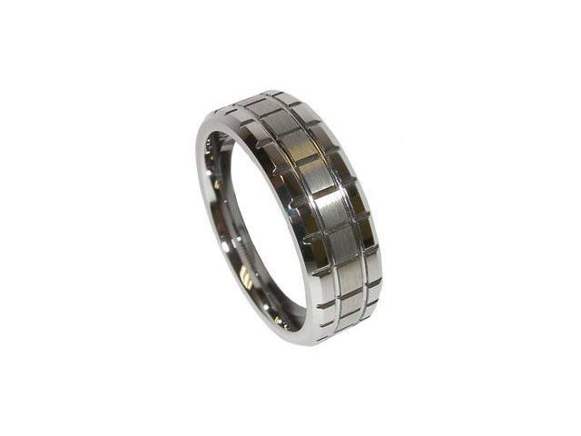 Mabella Fashion Men's High Polished Tungsten Carbide Wedding Band Ring
