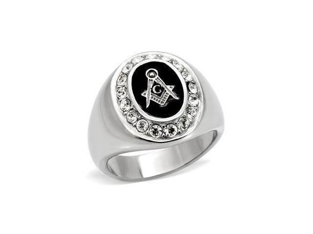 Popular Sale Mens 316L Stainless Steel Mason Onyx Ring