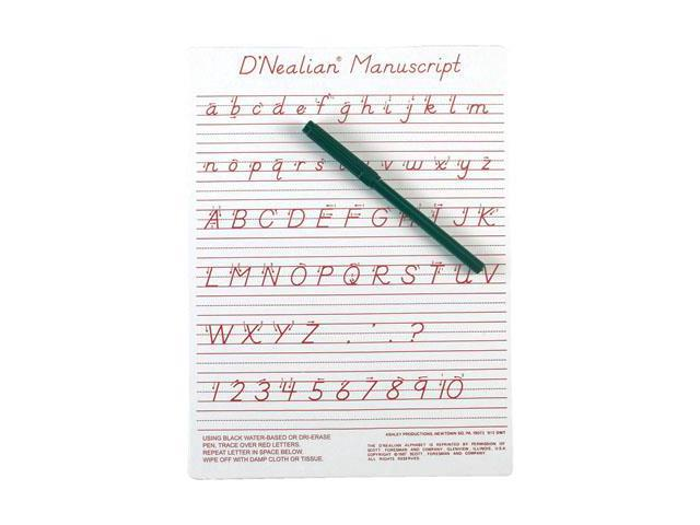 D'Nealian Manuscript Write On Dry-Erase Board