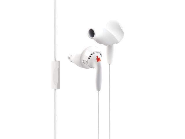 Yurbuds Ironman Inspire Talk Earphones with 1-Button Mic (White)