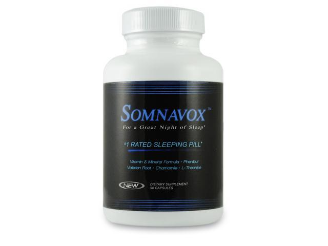 SOMNAVOX - Natural Sleep Aid Relax and Fall Asleep - Phenibut - Eliminate Toxins