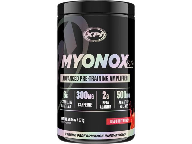Myonox 2.0 (Fruit Punch) - Best Pre Workout With Creatine and Nitric Oxide - Great Tasting