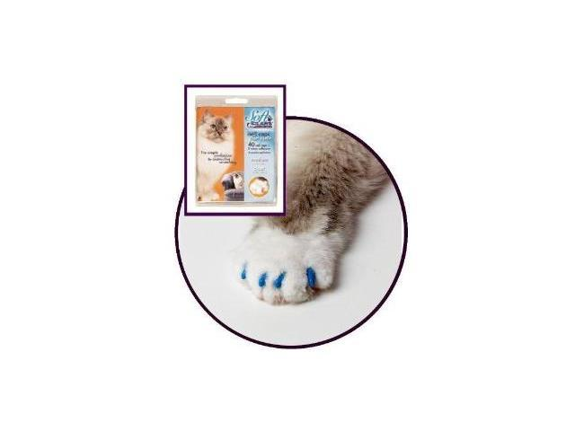 Soft Claws - Medium Blue. The Simple solution to destructive scratching