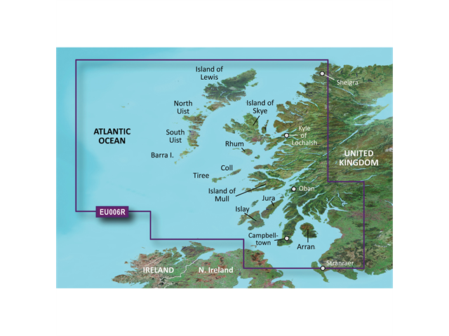Garmin VEU006R - Scotland West Coast - SD Card