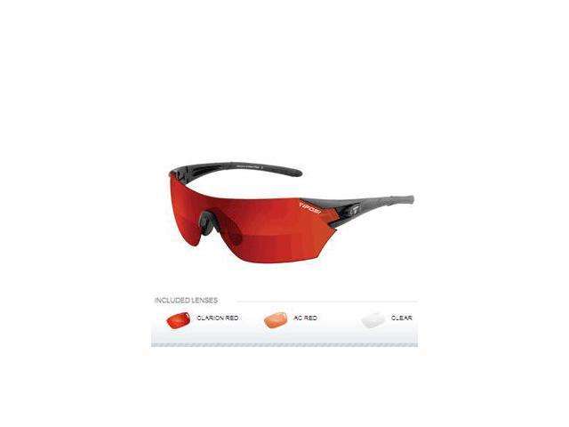 Tifosi Podium Interchangeable Sunglasses - Clarion Mirror Collection - Matte Black