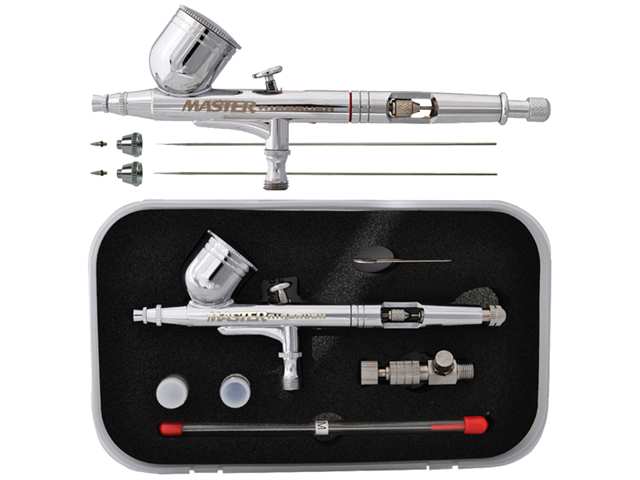 MASTER G233 Dual-Action AIRBRUSH PRO SET KIT w/ 3 TIPS Hobby Auto Paint Nail Art