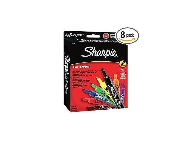 Flip Chart Markers Bullet Tip Eight Colors 8/Set