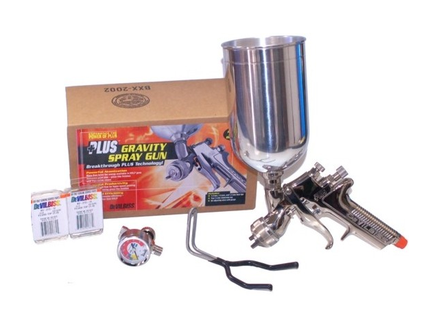 DeVILBISS GFG-670 PLUS SPRAY GUN 1.2 1.3 1.4 Tips Auto Paint-Basecoat Clearcoat