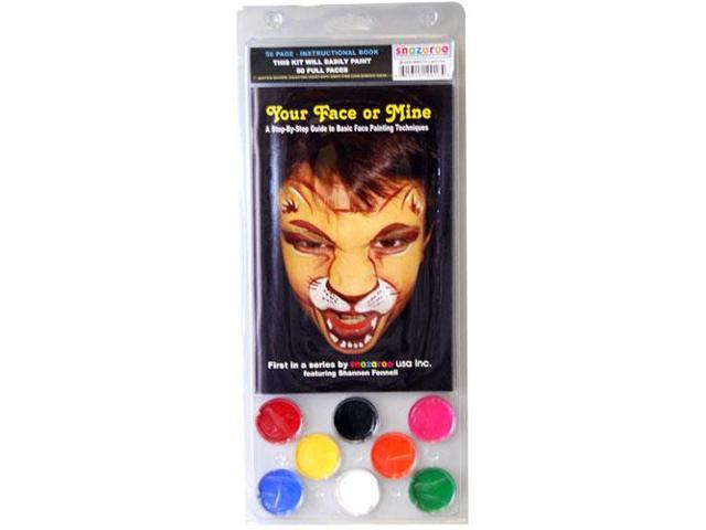 SNAZAROO YOUR FACE OR MINE BOOK w 8 Color Face Paint Halloween