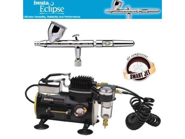 IWATA Eclipse HP-CS AIRBRUSH Smart Jet AIR COMPRESSOR Hobby Tattoo Cake Paint