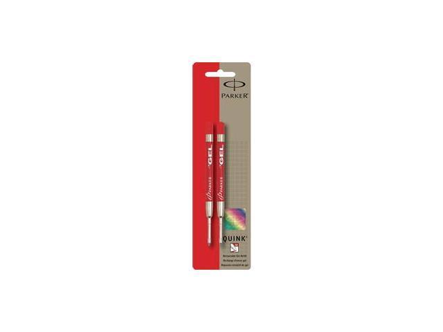 New Parker Red Gel MEDIUM Ballpoint Ink Refill 2-Pack