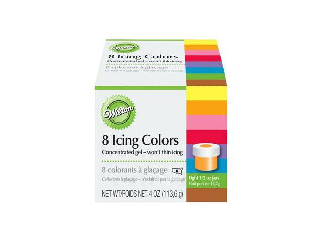 New Wilton 8 ICING COLORS SET Cake Decorating Food Dyes