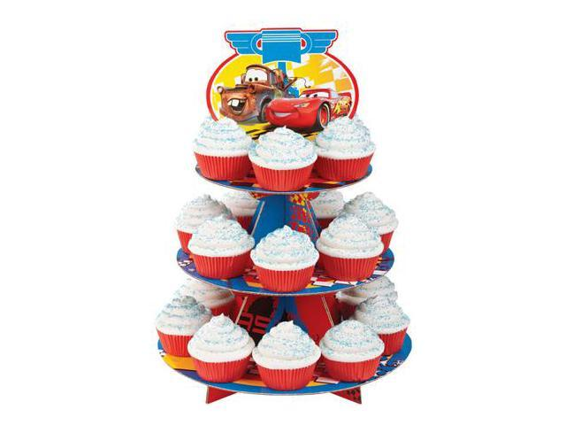 New Wilton Disney Cars 2 Cupcake Stand Piston Cup Party