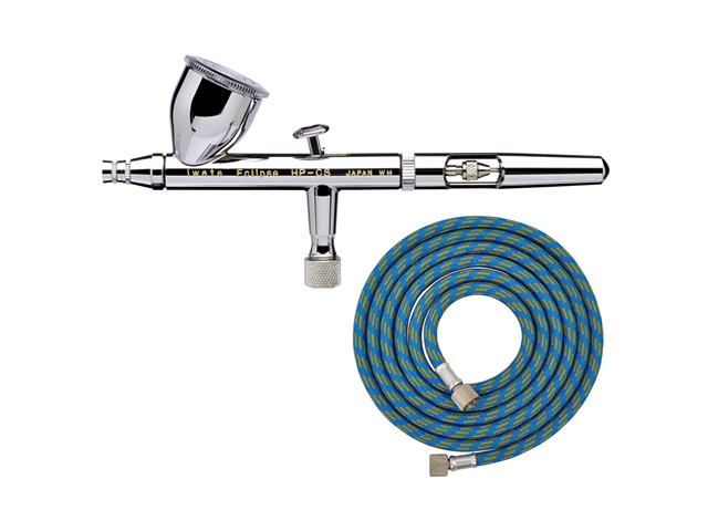 IWATA Eclipse HP-CS AIRBRUSH 4207 0.35mm Gravity Feed Dual-Action FREE AIR HOSE