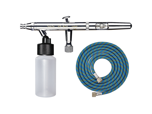 IWATA Eclipse HP-BCS AIRBRUSH 0.5mm Bottom Feed Dual-Action Bottle FREE AIR HOSE