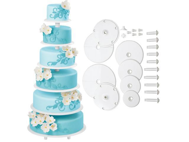 Wilton TOWERING TIERS WEDDING CAKE STAND 6 Tiers Cake Decorating Cupcakes Party